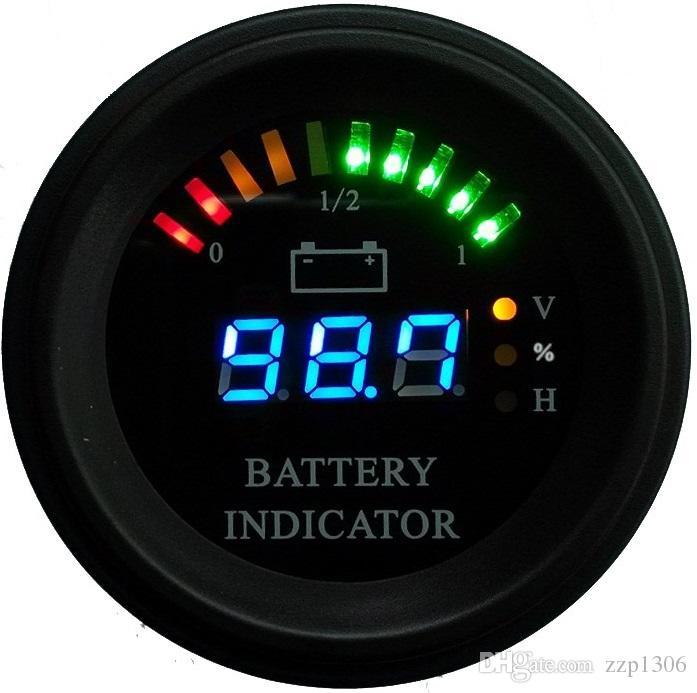 전하 지게차, EV 라운드 하우징 호 선 LED 디지털 배터리 게이지 방전 표시 시간 측정기 상태 24V 36V 48V 60V에서 200V까지