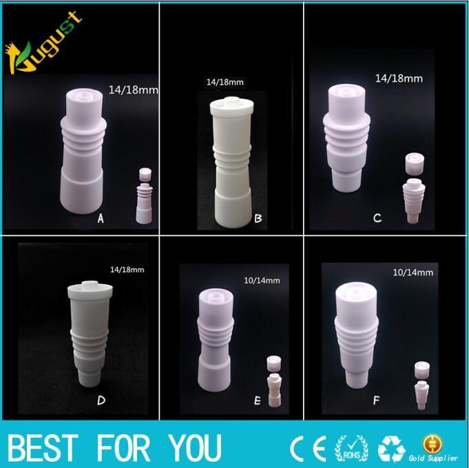 Hot slae High quality 14mm 18mm domeless Ceramic Nails with heating ring Male & Female joint Ceramic carb cap ceramic nail VS titanium nail