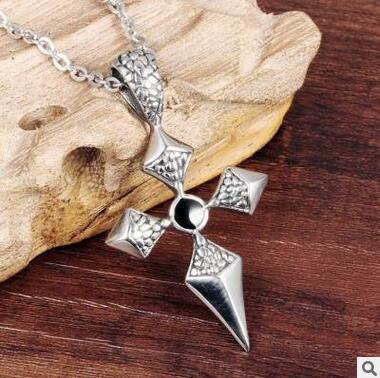 Ожерелье ожерелье для ожерелья ожерелье для ожерелья Крест десять ожерелье Панк стиль из нержавеющей стали Крест десять ожерелье ювелирные изделия DHL