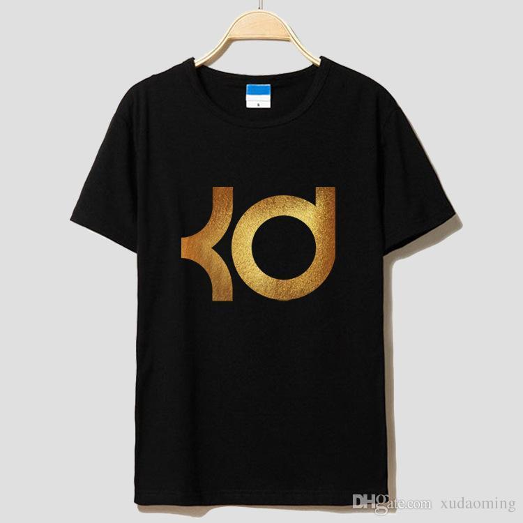 The New 2016 Warriors Kevin Durant Du Logo Ms Men Round Collar Basketball T-shirt Short Sleeve Short Sleeves Loose Leisure