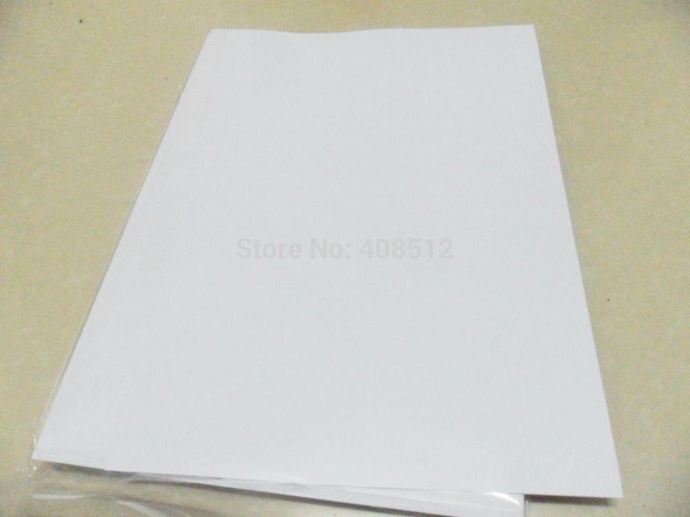 Wholesale-40 2016 hojas A4 etiqueta de vinilo blanco mate impermeable en blanco para impresora de inyección de tinta NUEVO MATERIAL ESPECIAL