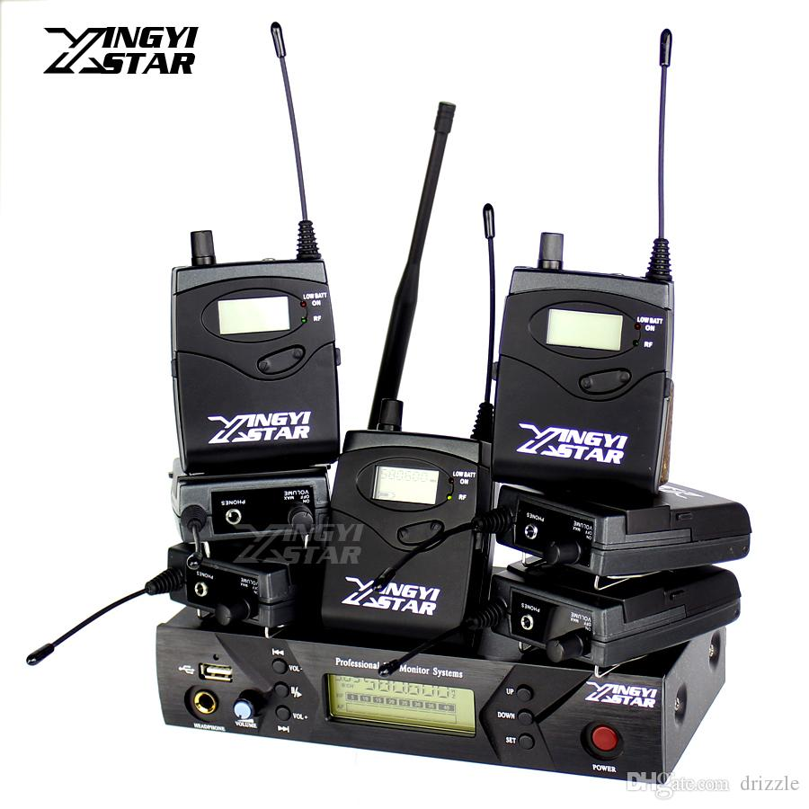 Pro Monitoring UHF Wireless In Ear Headphone Stage Monitor System One USB Transmitter With 7 Receiver Recording Studio DJ Mixer Console