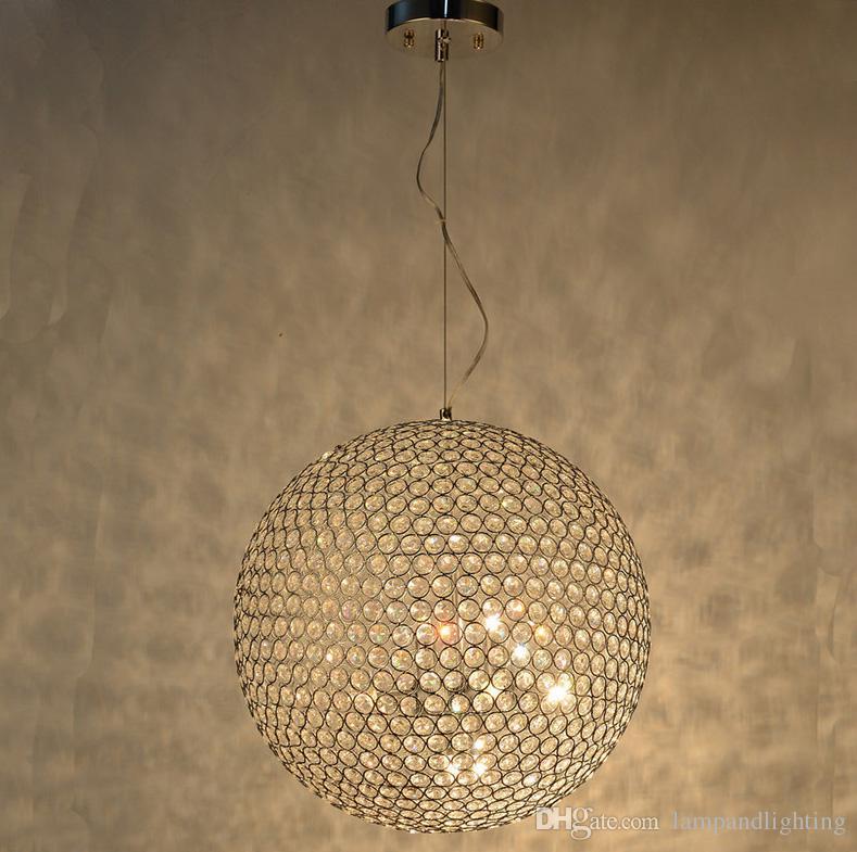 Lampadari A Palla Moderni.Acquista Lampadario Moderno A Forma Di Palla Da 40cm Colore Cromo Moderno Lampadario Moderno Soggiorno Illuminazione Interna A 145 73 Dal