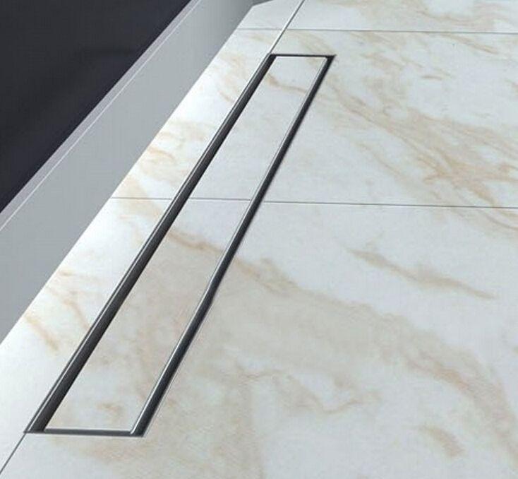 nichel spazzolato bagno lungo 80 centimetri 304 in acciaio inox lineare doccia scarico vasca 800mm doccia canale di scarico bagno scolapiatti DR128