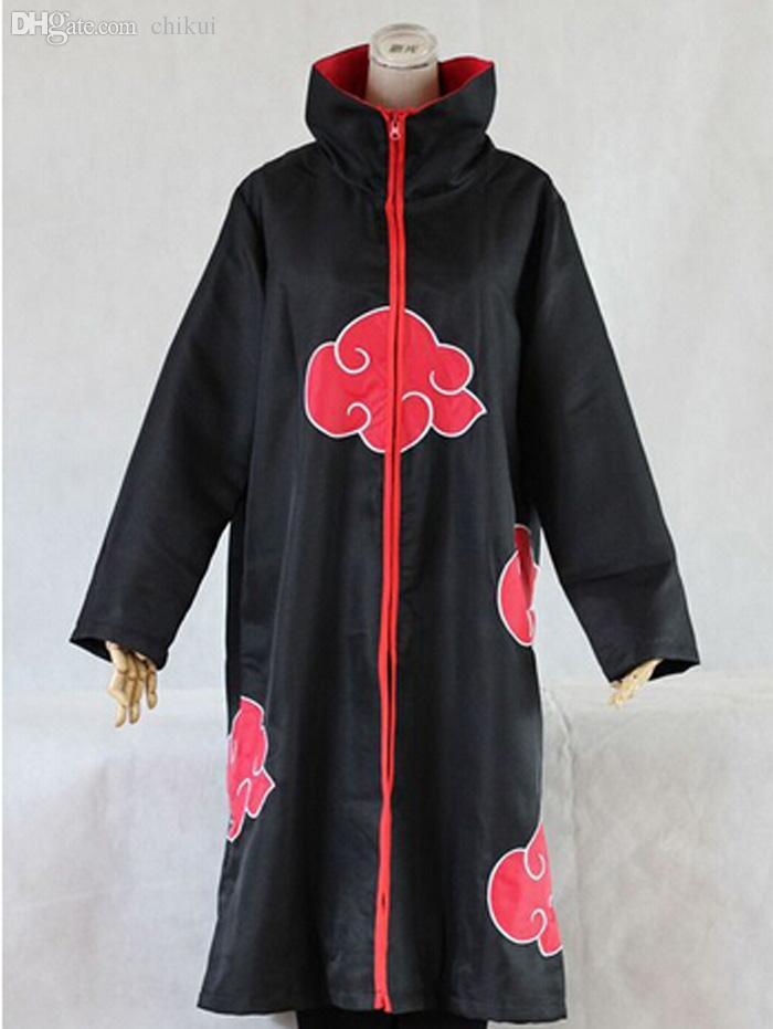 Wholesale-Naruto Akatsuki Cloak Cosplay Costume Orochimaru Itachi Uchiha Madara Sasuke Pein Robe Costumes XS-XXL
