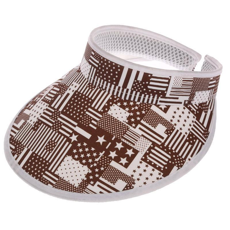 패션 인쇄 썬 바이저 모자 UV 여름 모자 도매 10pcs / lot 무료 배송