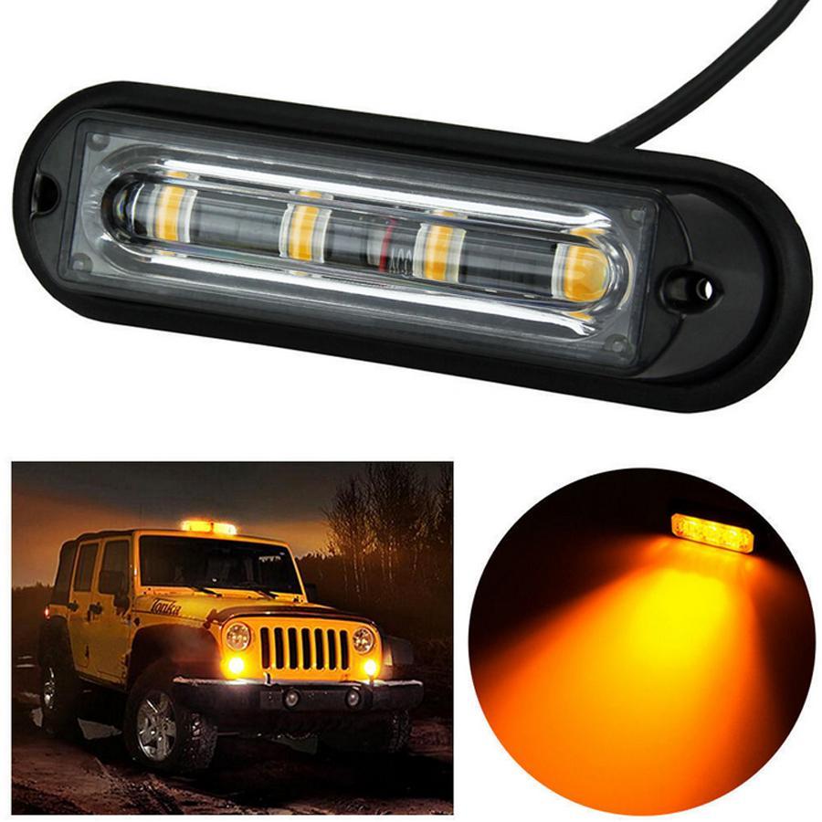 4 x 4LED Car Truck Van Strobe Flashing Emergency Grille Lights Beacon Lamps UK