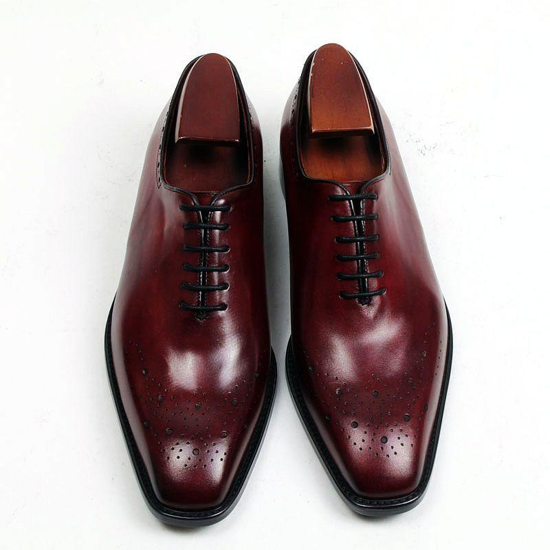 Zapatos de vestir de los hombres Oxfords zapatos Zapatos de los hombres Zapatos personalizados hechos a mano Cuero de becerro genuino Venta caliente HD-255