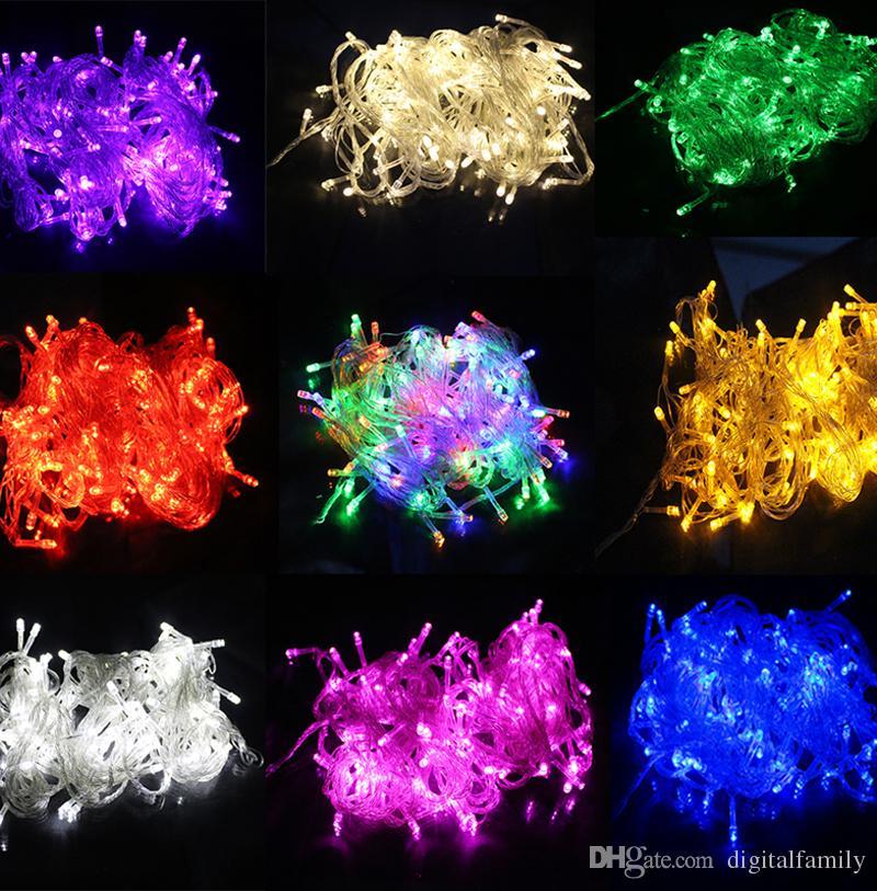 200m 200メートルのクリスマスクリスマス10メートル100 LED 100 LEDストリングライトフラッシュウィンドウカーテンライトホリデーLEDライトDHL