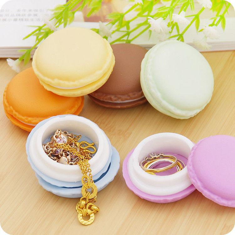 Popular Macarons Jewelry Boxes Earring Tc Plastic Chirstmas New Round Gift Jewelry Earrings Ring Pearl Necklace Display Box Case