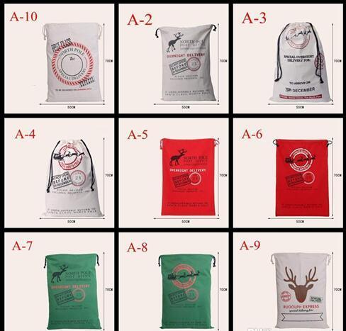 xmas christmas gift bag wholesale canvas cotton elk santa claus