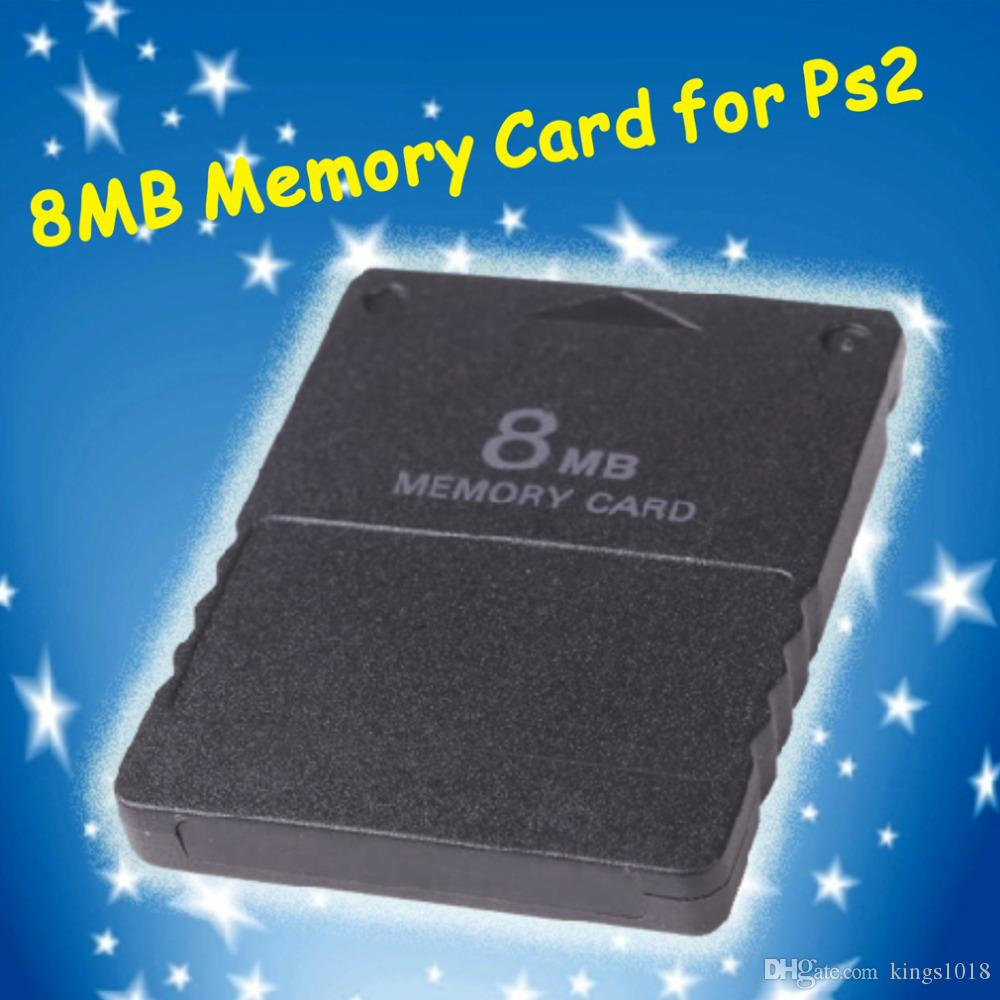Compact Design Black 8MB Memory Card Memory Expansion Card Suitable for Playstation 2 PS2 Black 8MB Memory Card