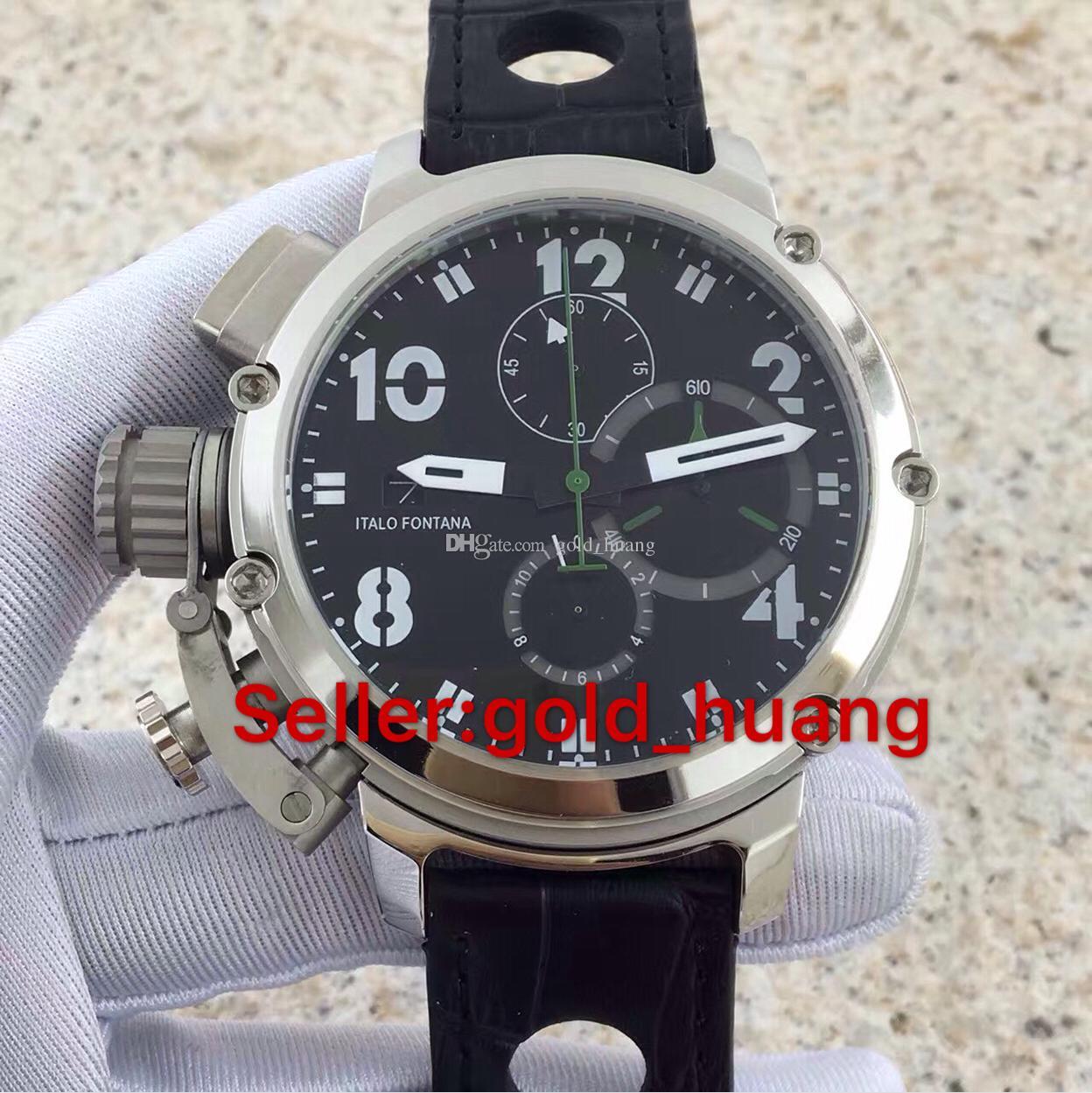 Luxo Limited flyback Edition Men Watch esporte cronógrafo de quartzo de vidro de safira alta qality relógios de aço inoxidável 09