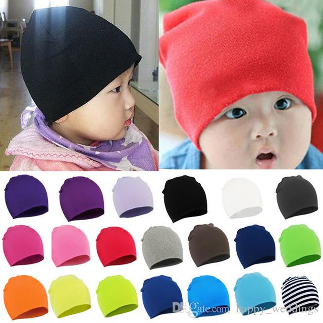 Cute Newborn Baby Knotted Hat Cotton Beanie Infant Toddle Boys Girls Soft Cap