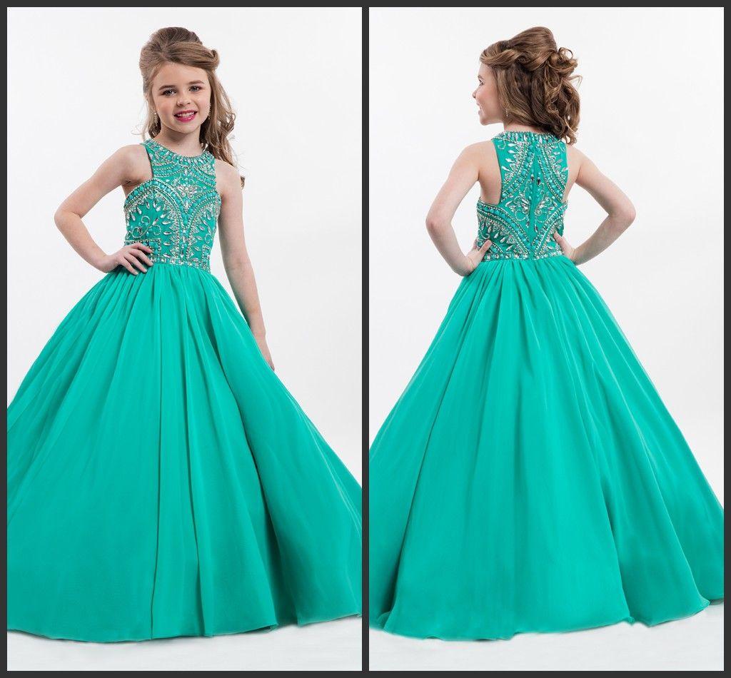 Rachel Allan Flower Girls Dresses For Weddings 2016 Jade Party Gowns ...