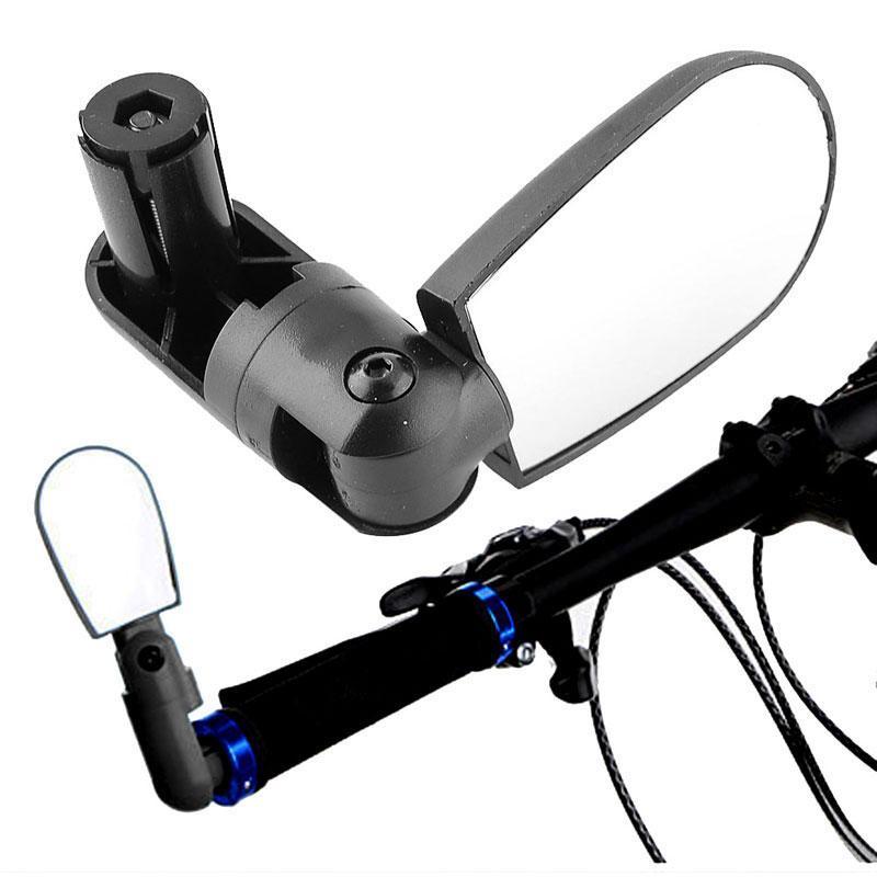 Universal Bike Mirror Bicycle Rotate Cycling Mountain Bike Handlebar Wide Angle Rear View Mirror Black Adjustable Espejo