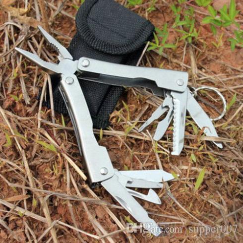 9in1 Outdoor Edelstahl Multi Tool Zange Tragbare Tasche Mini Camping Kit 1SZ8