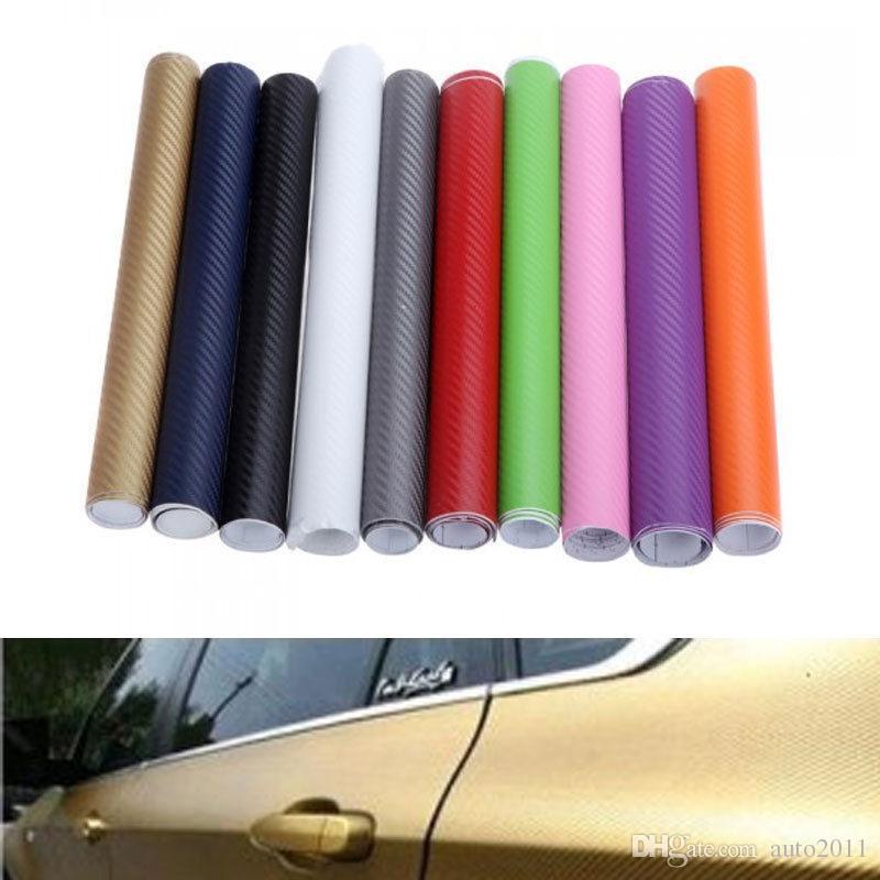 30cmx127cm 3D Pellicola in fibra di carbonio Car Wrap Foglio Rotolo Pellicola Adesivi per auto e decalcomanie Moto Accessori per lo styling delle auto Automobili