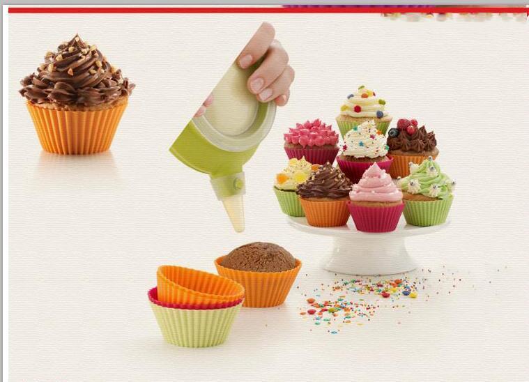 Кекс кекс чашки силиконовые торт плесень выпечки блюда Пан форма испечь торт десерт украшения инструменты формы для выпечки кухня столовая бар