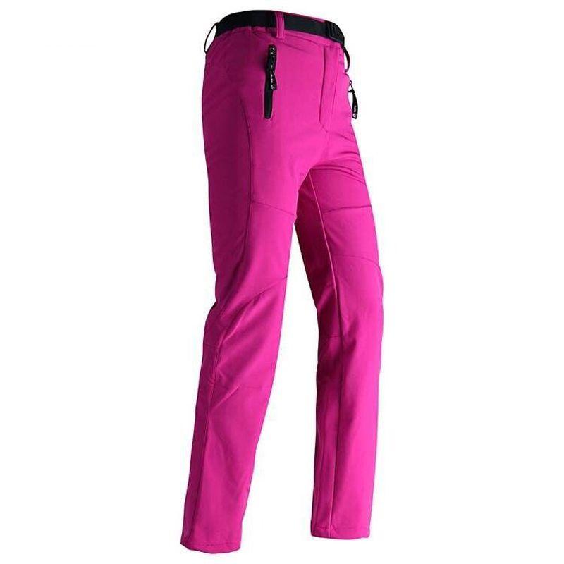 Wholesale-Women Thick Warm Fleece Softshell Pants Fishing Camping Hiking Skiing Trousers Waterproof Windproof 2016 New Pantolon RW041