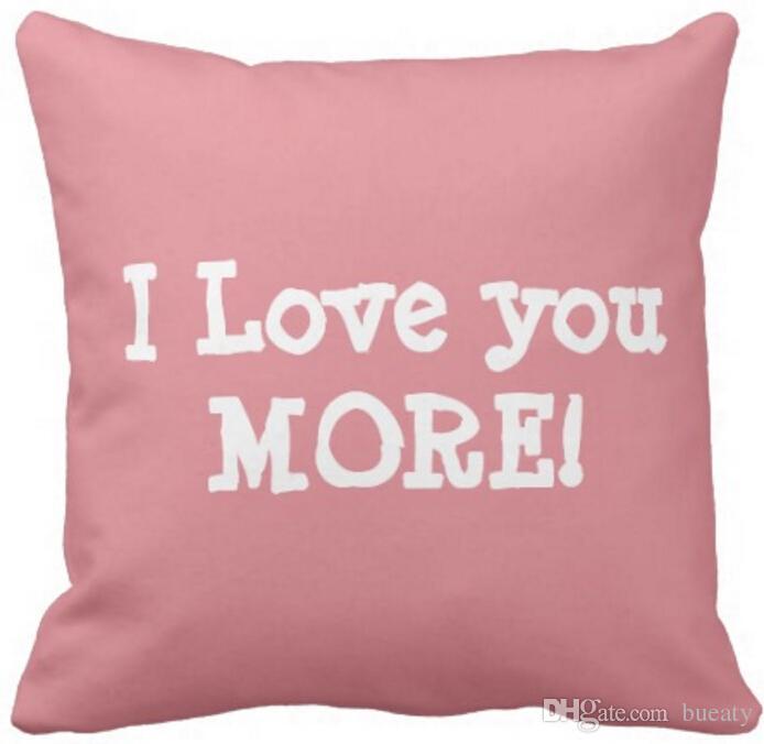 Personalizzato ti amo più cuscino (aggiungi nome) 50% cotone e 50% lino colore materiale come mostrato 16x16inch 18x18 inch 20x20 pollici