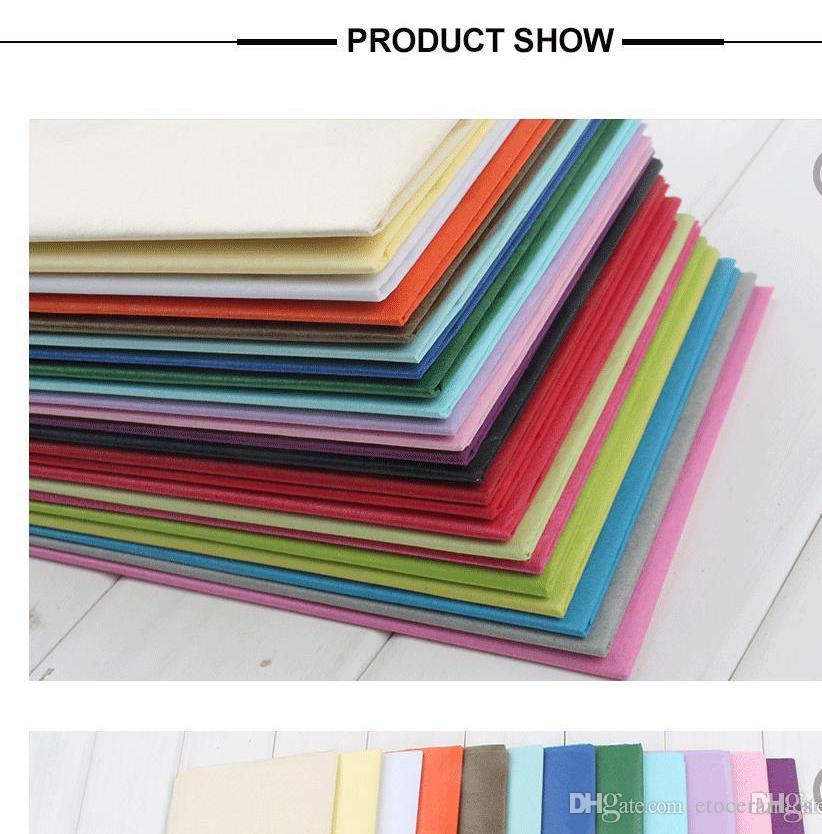 Wholesale Wrapping Tissue Paper Wedding Gift clothing wrap Paper Copy Tissue Paper solid candy colors 50*66cm H210469