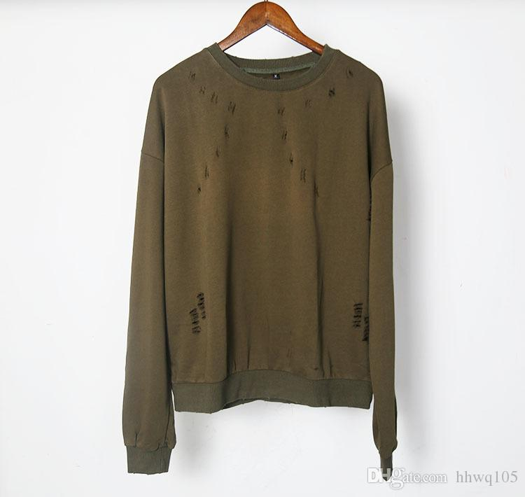 2019 Kanye West Ripped Sweatshirt O Neck Long Sleeve Oversized Pullover Hoodie New Skateboard Top Plain Casual Overcoat YYG1012 From Hhwq105, $30.87 |