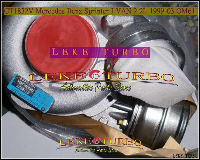 GT1852V 709836-0004 for Mercedes benz Sprinter 1999-03 2.2L OM611 turbocharger (5)