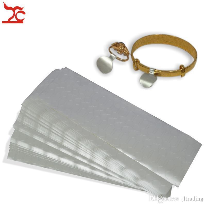 Freies Verschiffen 4000pcs Silber Ring Schmuck Selbst Sticky Einzelhandel Hantel Preis Label Display Stichworte Preisschild