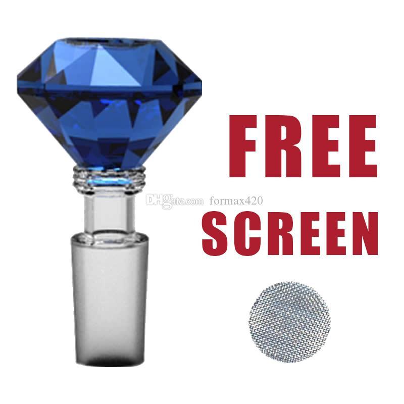 Formax420 18 / 19mm 유리 다이아몬드 그릇 허브 홀더 3 색 5 무료 화면 무료 배송