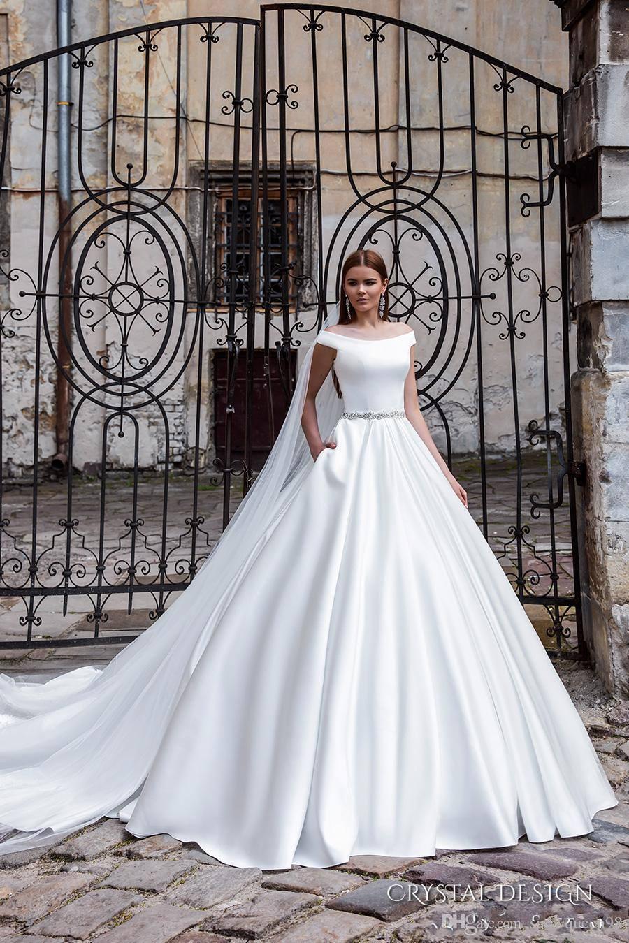 Discount New Arrival Off The Shoulder Crystal Design 2016 Wedding ...