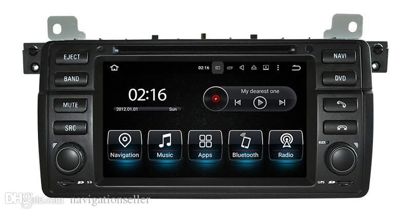 Android9.0 PX5 OCTA CORE 1024x600 7.0 inch screen Car stereo Navigation For BMW E46 M3 with car dvd gps audio video support DAB OBD