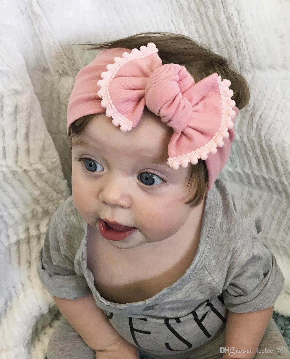 Moda bowknot bebé Bow Headband bebê Aaccessories para Crianças arco de cabelo Tie Bandas Contraste Cores Elatic headwrap cocar