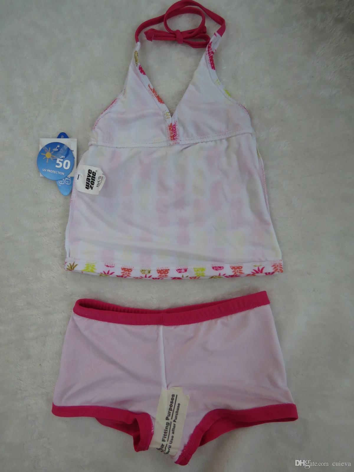 2018 Baby Girls Swimwear Kids Uv Protection Upf 50 Tankini Swimsuit