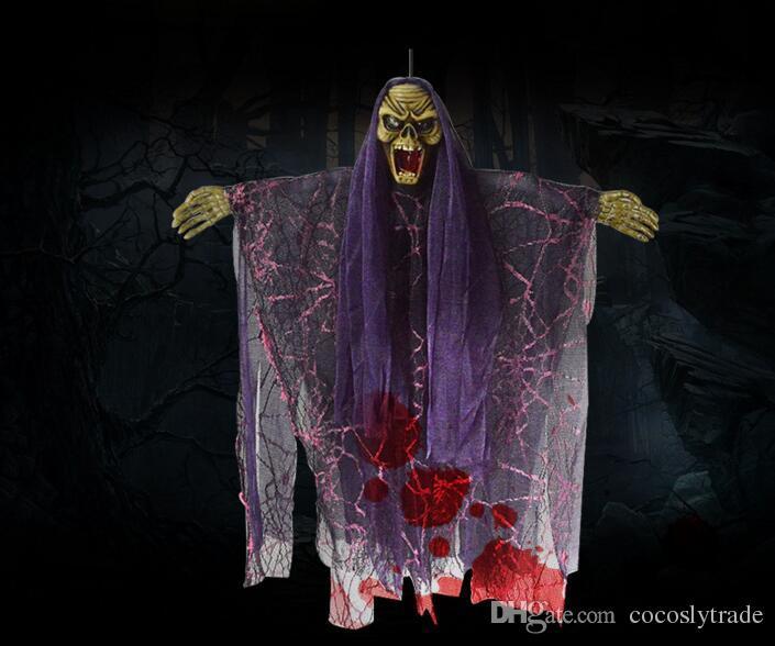 Halloween Hanging Pirate Crâne Tête Horreur Prop