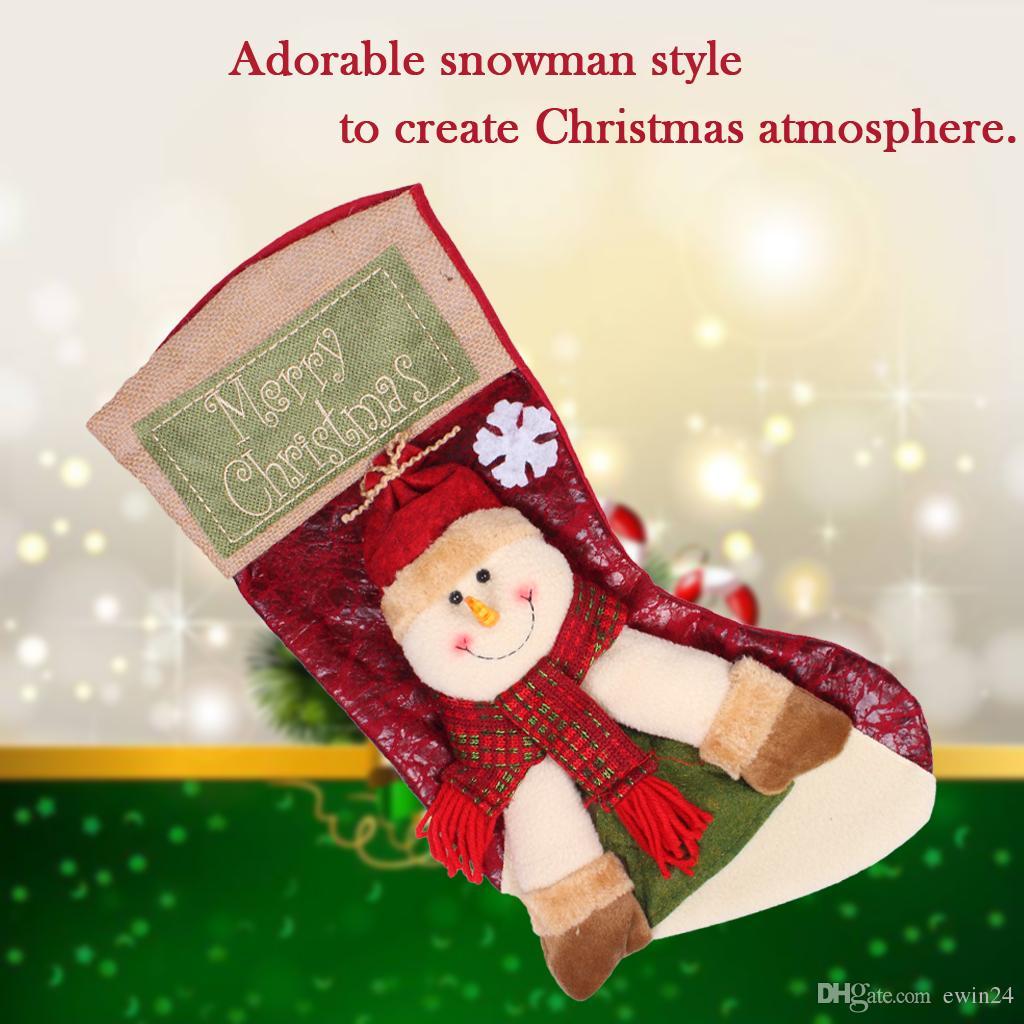 Длинные носки рождественские конфеты подарочная сумка Xmas Tree висит украшение украшения Xmas чулок рождественские декоративные носки сумки