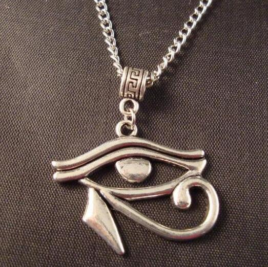 Wholesale women holiday gifts egyptian eye of horus charms pendants necklace vintage silver protection spiritual jewelry long pendant necklace mens women holiday gifts egyptian eye of horus charms pendants necklace vintage silver protection spiritual moze Choice Image