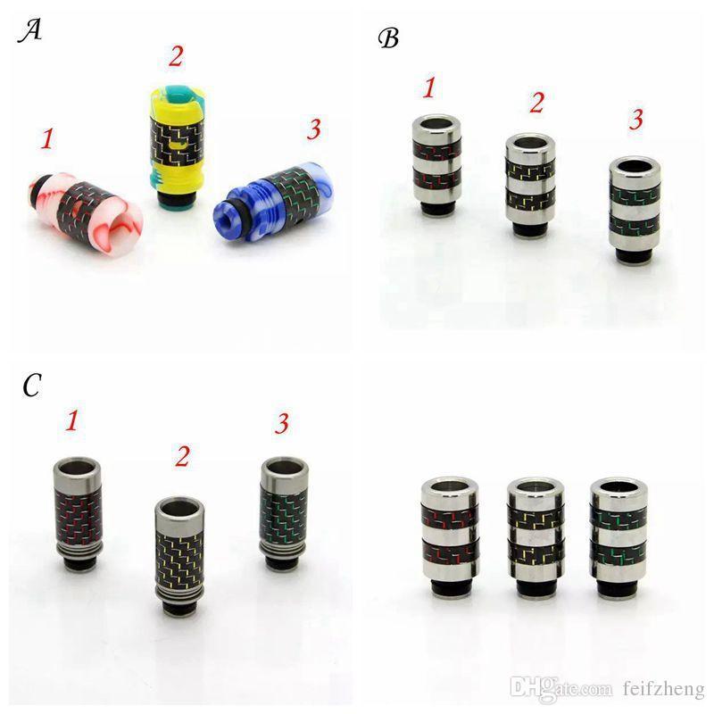 Carbon Fiber Acryl oder Edelstahl 510 Tropfspitzen Mundstück Weitbohrung Tropfspitzen Bunte Tropfspitze passend für RDA RBA RTA Zerstäuber