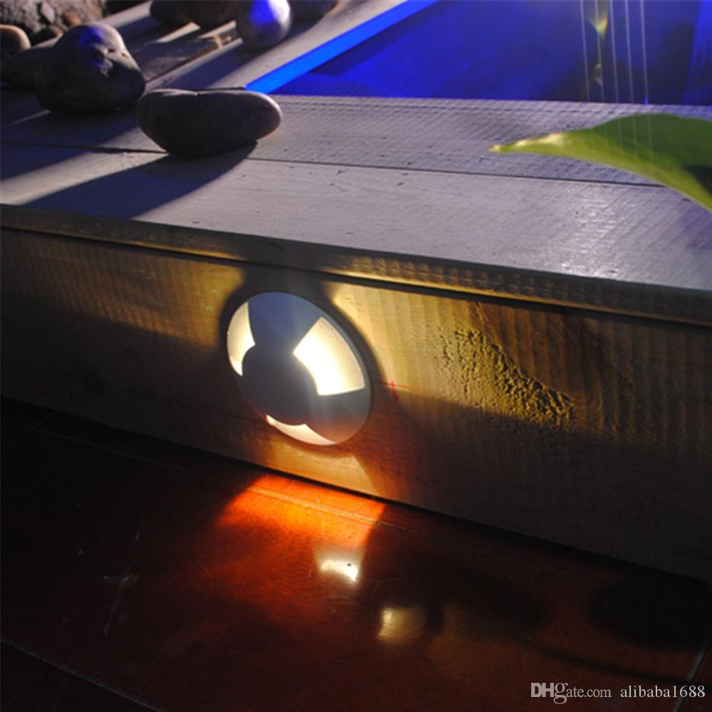 DC12V LED Light LED Underground Light Lampada da esterno impermeabile IP67 Illuminazione da giardino Lampada da parete a gradini in alluminio con gradino in alluminio 6 PEZZI + driver