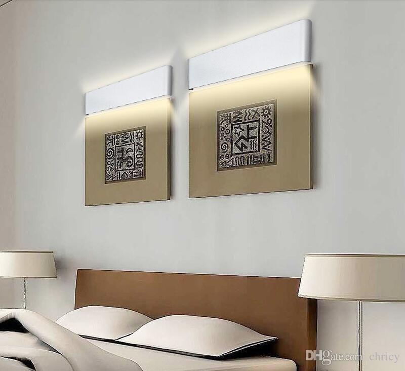 Moderno minimalista 72 cm llevó apliques de pared 24W Aluminio aplique apliques de pared luces de cabecera AC85-265V lamparas de pared iluminación interior