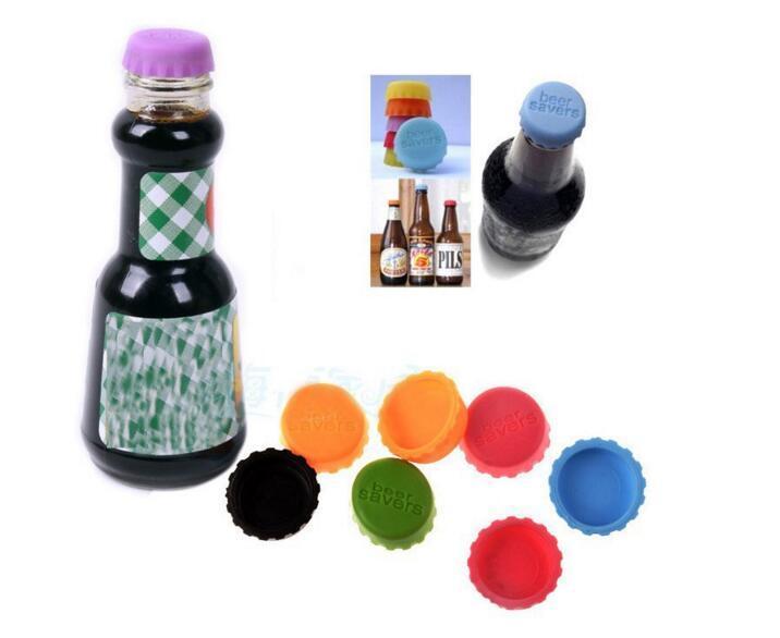 Silikon Flaschenverschlüsse Wein Bier Saver Multicolour für Küche Bar Food-Grade Neue Idee Soft Beer Cap 6pcs pro Packung