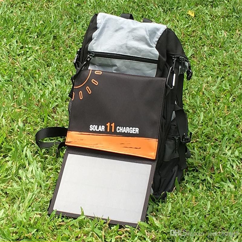 KY-11W-1, iPhone 6s 7 플러스, 안드로이드, 삼성, HTC, LG, 넥서스에 대 한 듀얼 USB 포트 휴대용 태양 전지 패널과 Foldable 태양 열 충전기