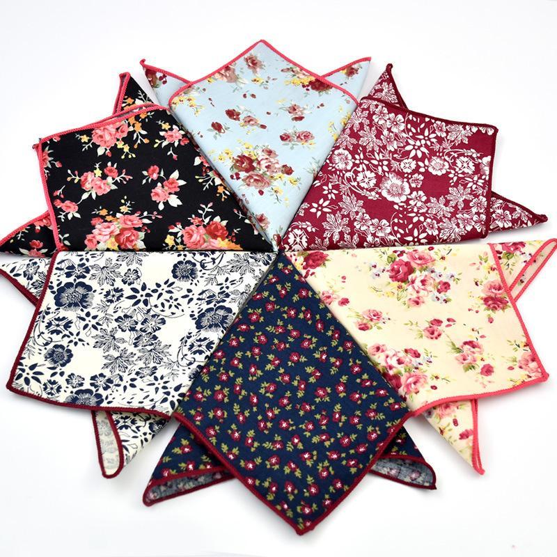 Algodón Hankerchief 30 colores de impresión Bolsillo cuadrado Servilleta pañuelo mochila hombres noserag Para Fiesta de Boda Fiesta de Navidad Libre de Navidad