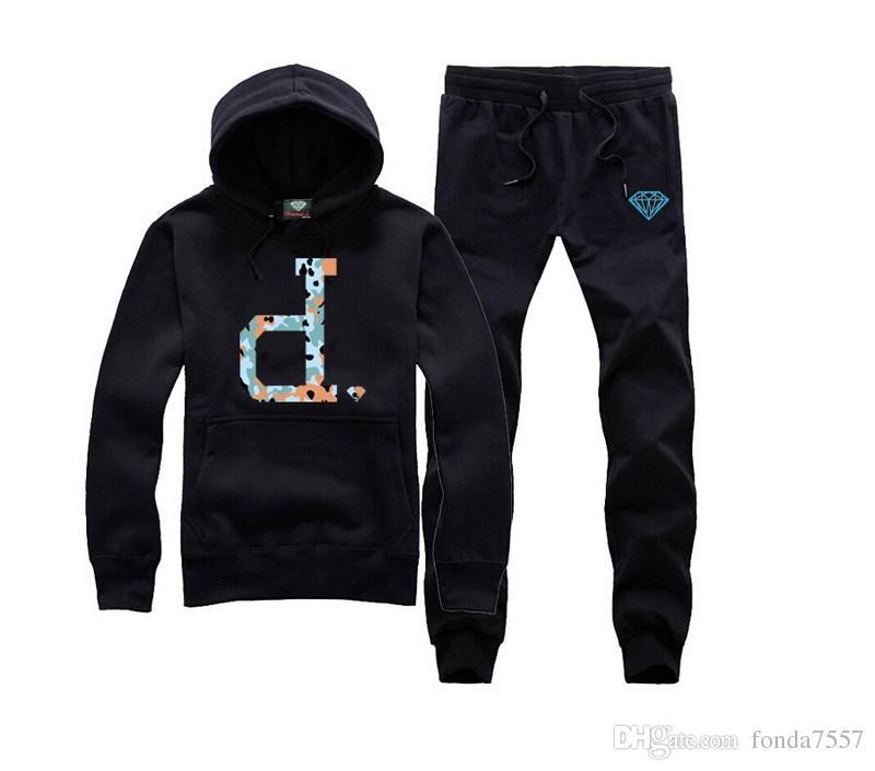 M665 frete grátis s-5xl nova impressão correndo fatos de treino marca Mens Fleece Pullover skate hoodies moletom com capuz + calças