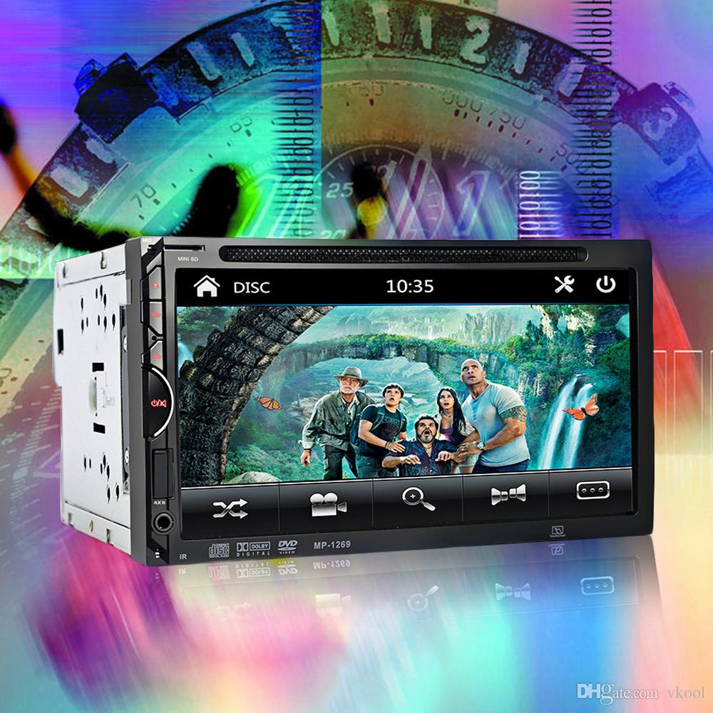 "2 Din 7 inch Car DVD Radio Player Car MP4 MP5 Player Bluetooth V3.0 7"" In-dash Video USB/SD/MP4 Player FM/AM Radio"