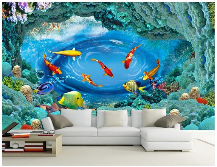 Wall art murals wallpaper for Foto murali 3d