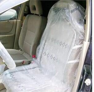 En stock 10pcs auto jetables plastique siège films housses