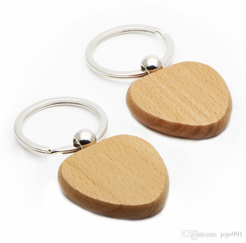 WOODEN HEART KEYCHAIN BLANK Cheaper keychains Personalized Engraved key ring 1.5''x1.5' ' FREE Shipping #KW01X