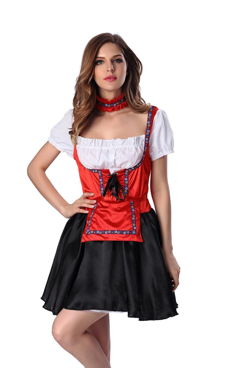 White apron fancy dress -  Women S Sexy Women S Adult Maid Uniforms Fancy Dress With Apron And Collar For Festival For