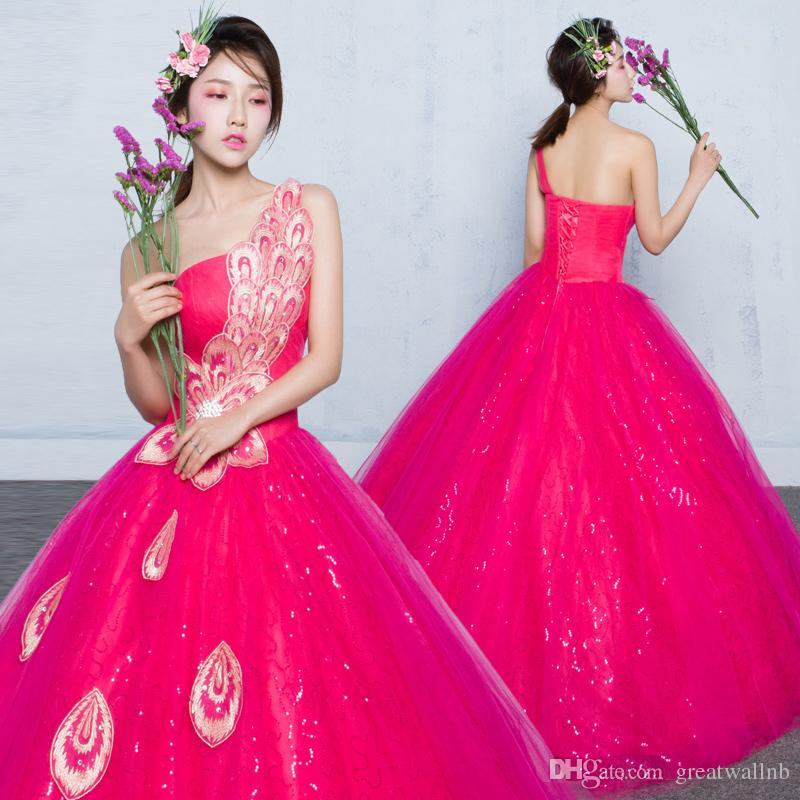 100% real rosa quente pavão bordado vestido de baile de lantejoulas medieval vestido de Renascença Vestido de rainha do Victorian cosplay vestido de baile Belle Bola